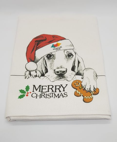 Rescue Hub Christmas Tea Towel - Large
